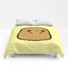 Cute chicken nugget Comforters