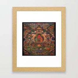 Buddha Amitabha in His Pure Land of Suvakti Framed Art Print