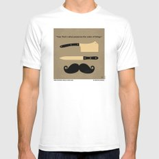 No195 My Gangs of New York minimal movie poster MEDIUM White Mens Fitted Tee