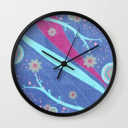 Floral Mystic Mixed Media Wall Clock