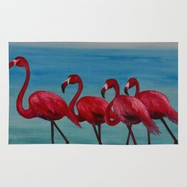 The 4 Flamingoes Rug