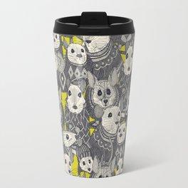 sweater mice chartreuse Travel Mug