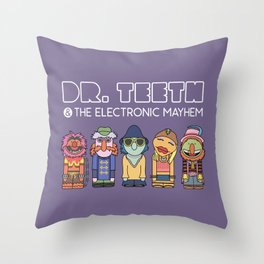 Dr. Teeth & The Electric Mayhem – The Muppets Throw Pillow