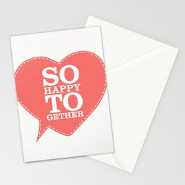 So Happy Together Stationery Cards