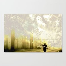 Retrollage 3.. Canvas Print