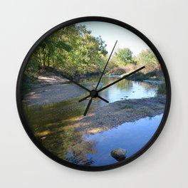 Where Canoes and Raccoon Go Series, No. 24 Wall Clock