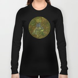 Old stone wall with moss Long Sleeve T-shirt