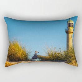 Old lighthouse from Hanseatic city of Rostock Rectangular Pillow