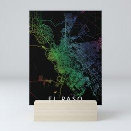 El Paso TX USA City Map Rainbow City Map Art Print Mini Art Print