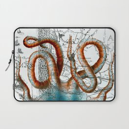 Octopus Tentacles Vintage Map Nautical Laptop Sleeve