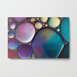 Oil In Water Metal Print