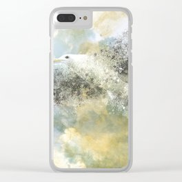 Vanishing Seagull Clear iPhone Case