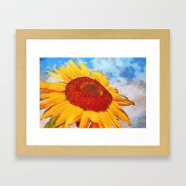 Hello Sun Sunflower  Art Framed Art Print