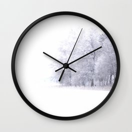 White Forest Wall Clock