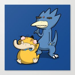 Pokémon - Number 54 & 55 Canvas Print