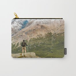 Man at Top of Andes Mountains, Patagonia - Argentina Carry-All Pouch
