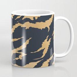 Tiger Fur Pattern (Navy & Gold) Coffee Mug