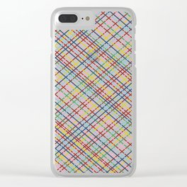 Rainbow Weave 45 Clear iPhone Case