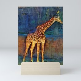 LA Zoo Giraffe Mini Art Print