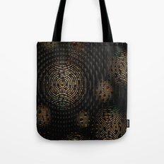 Dark and Orange Circle Weave Pattern Tote Bag