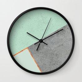 MINT COPPER GRAY GEOMETRIC PATTERN Wall Clock