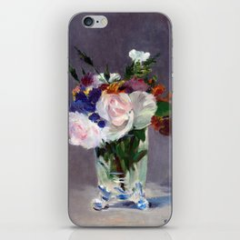 Edouard Manet Flowers in a Crystal Vase iPhone Skin