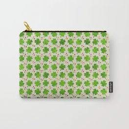 Irish Shamrock Four-leaf clover pattern Carry-All Pouch