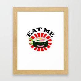Eat Me Kawaii Sushi Framed Art Print