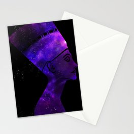 Queen Nefertiti Nebula Dark Stardust Stationery Cards