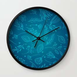 Winter flower Wall Clock