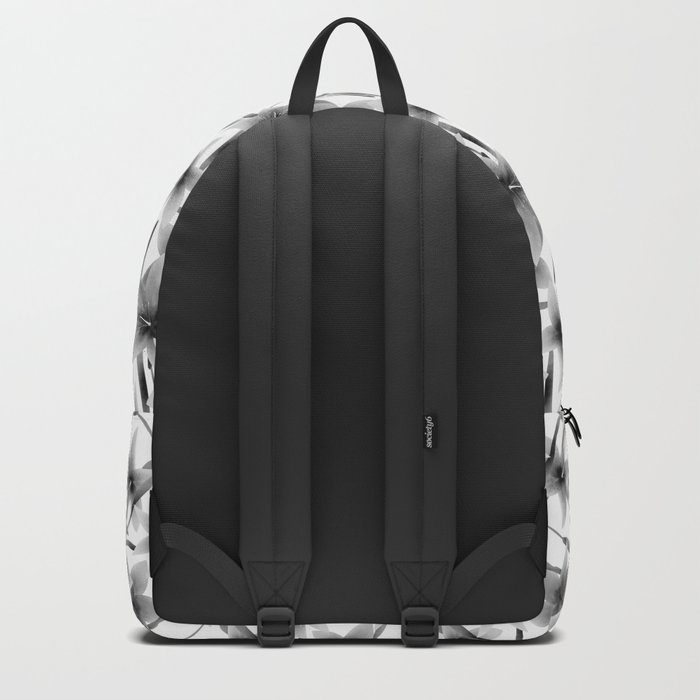 Lily. Black and white pattern . Backpack