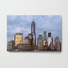 Skyline of Manhattan at dusk, New York Metal Print