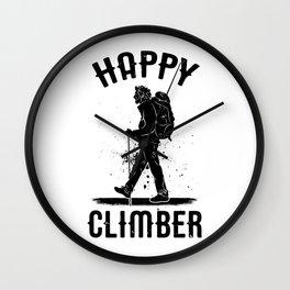 HAPPY CLIMBER Wall Clock