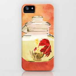 Beta Fish Tea by Kenzie McFeely iPhone Case