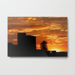 Castle Sunset  - JUSTART © Metal Print