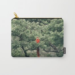 SHORT-BEAK RED BIRD ON TREE Carry-All Pouch
