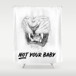 NOT Your Baby Shower Curtain