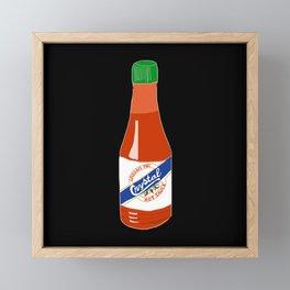 Crystal Hot Sauce Framed Mini Art Print