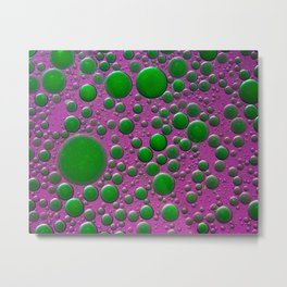 The world of bubbles - pink and green Metal Print