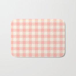 PASTEL GINGHAM 02, blush pink squares Bath Mat