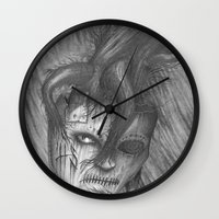 vegetable Wall Clocks featuring Vegetable by Brandon Hein