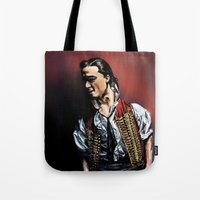 enjolras Tote Bags featuring Enjolras by rapunzette
