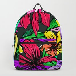 Retro Jungle flower Pattern Backpack