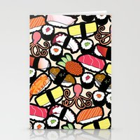 sushi Stationery Cards featuring Sushi! by thickblackoutline