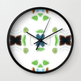 Sea Glass 6 Wall Clock