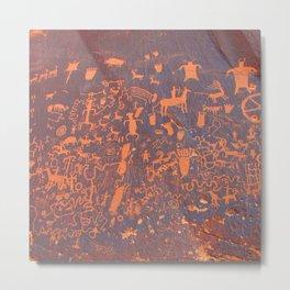 Newspaper Rock - Canyonlands Utah Metal Print