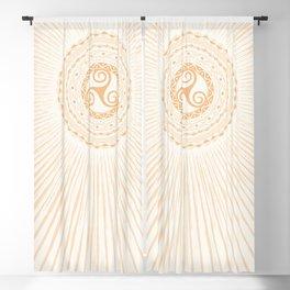 Shining Sun Symbol Tarot Wicca Esoteric Blackout Curtain