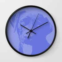 labrador Wall Clocks featuring Labrador by Aaron Queen