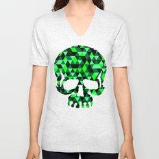 Triangle Camouflage Skull (BLACK) Unisex V-Neck