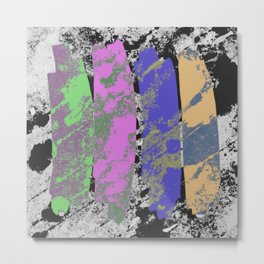 All 4 One - Abstract, textured artwork Metal Print